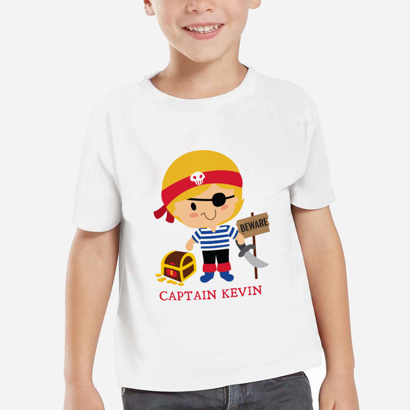 Personalized Kids Character Pirate T Shirt Shop Now