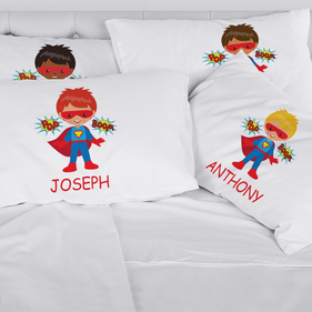 Personalized Kids Character Superboy Pillowcase