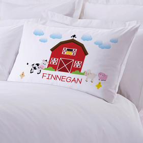 Personalized baby gifts monogrammed gifts for kids from monogram personalized kids farm house pillow case negle Image collections