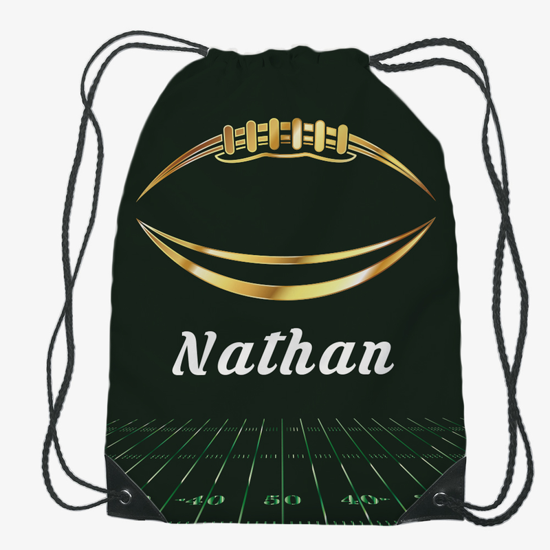 Kids Custom - Personalized Football Drawstring Bag - Shop Now