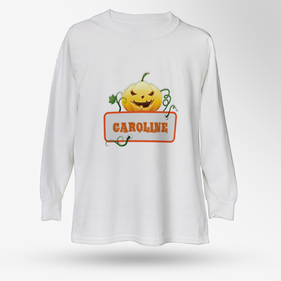 Personalized Kids Halloween Long-Sleeve T-Shirt