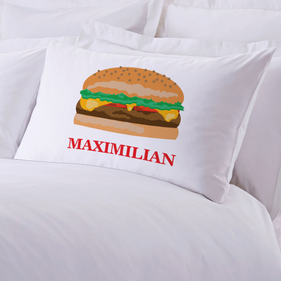 Personalized Initial Cheeseburger Pillowcase