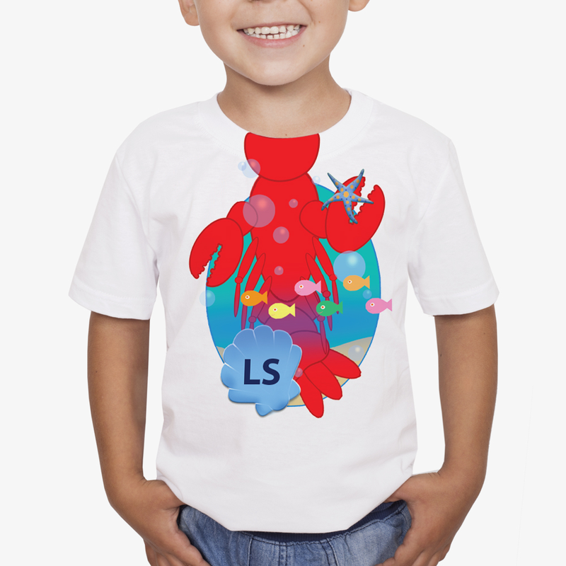 Personalized kids t shirt animated animals buy now for Order custom t shirts canada