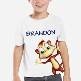Exclusive Sale - Personalized Kids Monkey T-Shirt