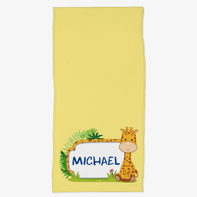 Personalized Kids Giraffe Hand Towel