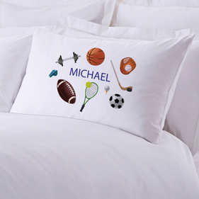 Exclusive Sale - Personalized Kids Name Sports Pillowcase