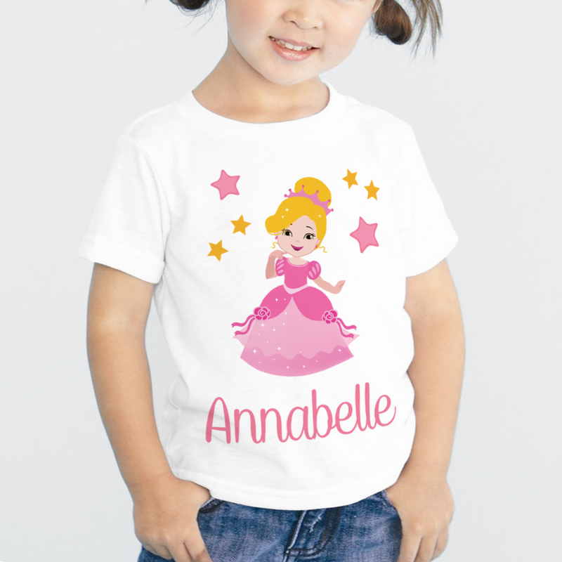 Personalized kids princess character t shirt shop now for Custom kids t shirts