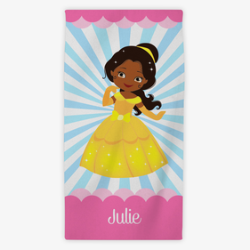 Flash Sale - Personalized Kids Princess Character Towel