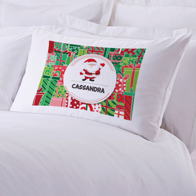 Personalized Kids Santa Claus Pillow Case