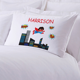 Personalized Kids Superboy Pillowcase
