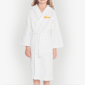 Personalized Kids Waffle Hooded Bathrobe