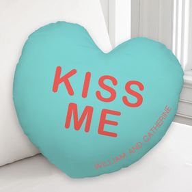 Personalized Kiss Me Custom Cushion