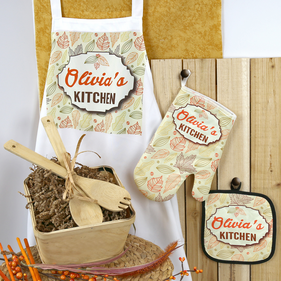 """Home Is Where The Heart Is"" Personalized Family Kitchen Gift Basket"