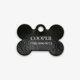 Personalized Black Bone Dog Tag