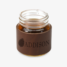 Personalized Leather Mini Mason Jar 2 oz. Shot Glass