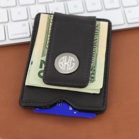 Exclusive Sale - Personalized Leather Money Clip