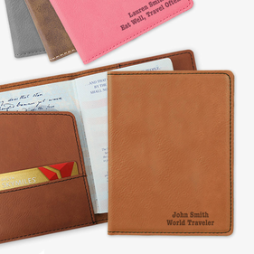 Exclusive Sale - Personalized Leatherette Passport Holder