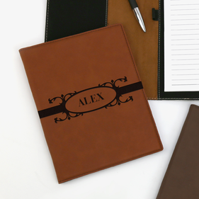 Personalized Leatherette Portfolio with Notepad