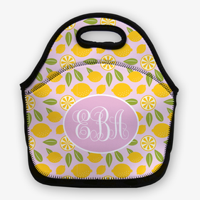 Personalized Lemon Lunch Bag