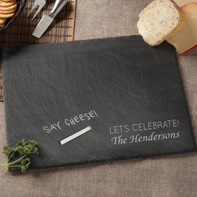 Personalized Lets Celebrate Slate Serving Board