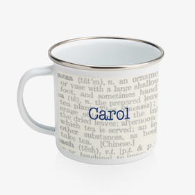 Personalized Life Enamel Coffee Mug