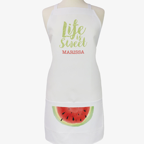 Personalized Life Is Sweet Adult Apron