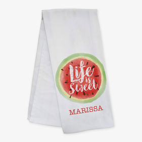 Personalized Life Is Sweet Bar Towel