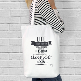 Personalized Life Lesson Cotton Tote Bag
