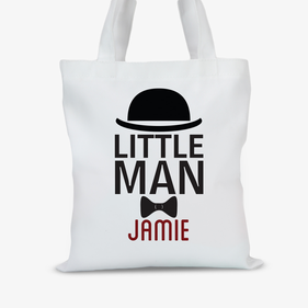 Personalized Little Man Tote Bag