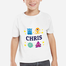 Personalized Little Monsters Kids T-Shirt