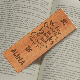 Personalized Lost In Books Bookmark