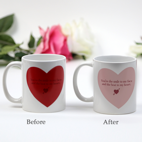 Personalized Love Quote Heart Magic Mug