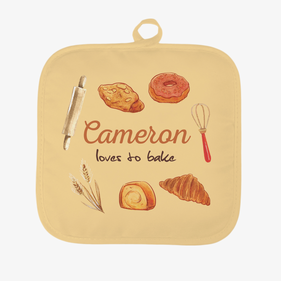 Personalized Loves to Bake Pot Holder
