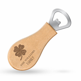 Personalized Lucky Shamrock Magnetic Bottle Opener
