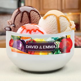"Personalized ""Made With Love"" Couples Bowl"