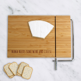 Personalized Mama Wood Cheese Cutting Board