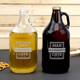Personalized Man Cave Beer Growler