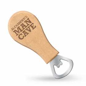 Exclusive Sale - Personalized Man Cave Magnetic Bottle Opener