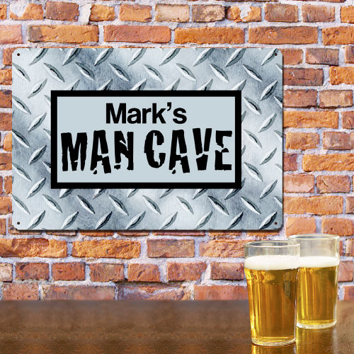 Personalized Man Cave Signs Free Shipping : Personalized man cave metal sign monogram online