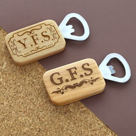 Personalized Maple Rectangular Bottle Opener