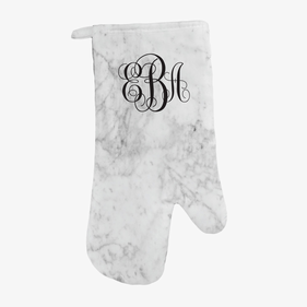 Personalized Marble Design Oven Mitt