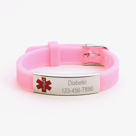 "Personalized Medical ID Bracelet <p><span style=""color:#ff0000;"">***BLACK MEDICAL ID BRACELET IS CURRENTLY OUT OF STOCK***"