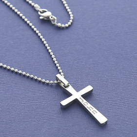 Personalized Men's Cross Pendant