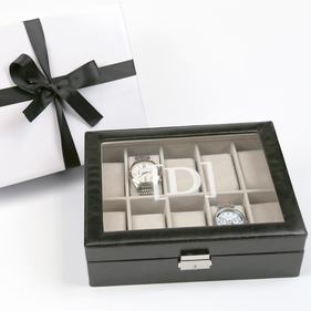 Personalized Men's Watch Case Gift Boxed