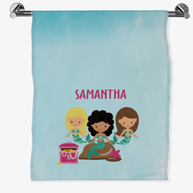 Personalized Mermaid Bath Sheet
