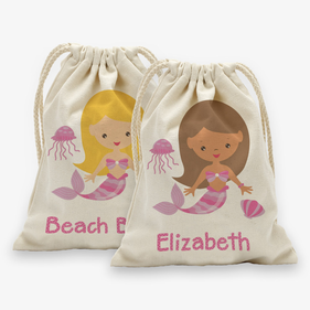 Personalized Mermaid Drawstring Sack