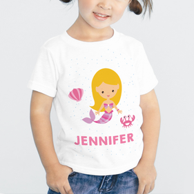 Exclusive Sale - Personalized Mermaid Kid's T-Shirt