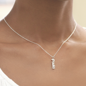 Personalized Mini Name Necklace in Silver