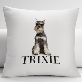 Personalized Miniature Schnauzer Pets Decorative Cushion Cover