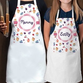 Personalized Mommy and Daughter Apron Set